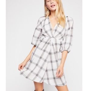 Free People miss molly windowpane mine dress